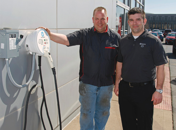 Green Nissan Springfield Il >> Car Charging Stations Pop Up All Over Springfield Business