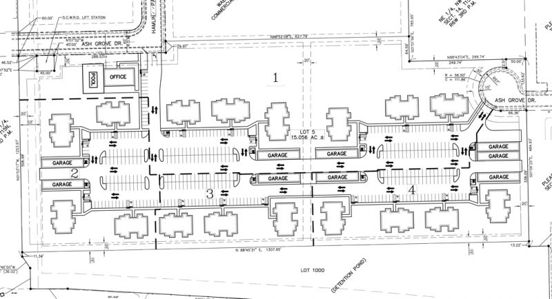Apartment complex proposed near wells fargo springfield for Apartment complex layout